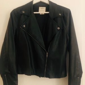 On trend cool faux leather moto jacket